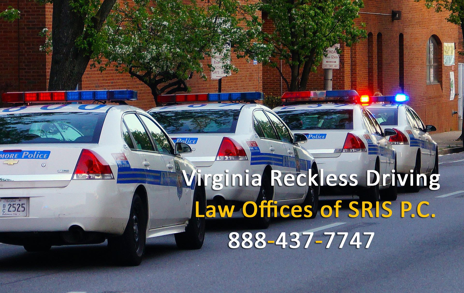 46.2-862 46.2-852 Reckless Driving Virginia Lawyer Fairfax 46.2-853