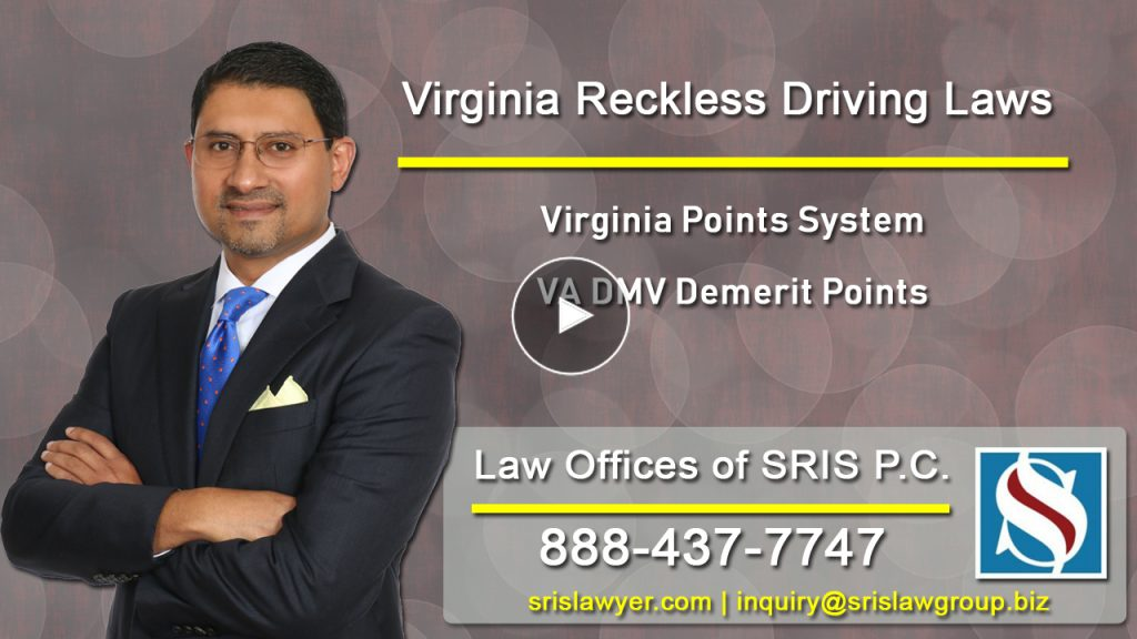 Reckless Driving VA Points System VA DMV Demerit Points