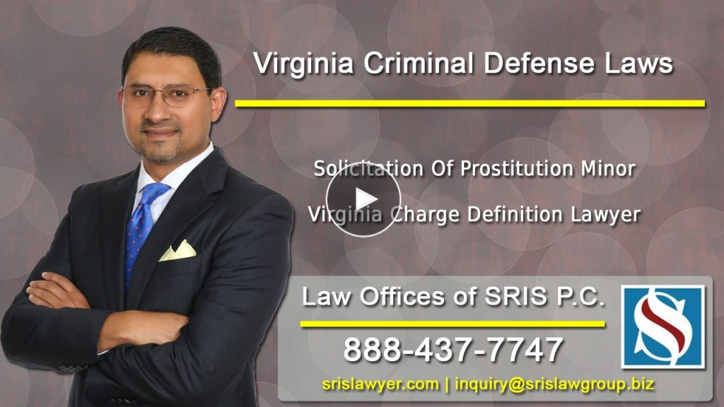 Solicitation Of Prostitution Minor Charge Virginia
